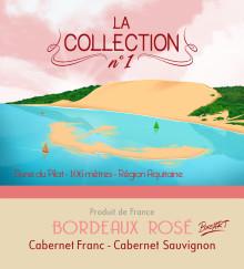 Etiquette vin rosé « La Collection n°1 – BORD'Art»